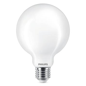 Philips LED globe E27 60W mat niet dimbaar