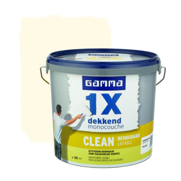 GAMMA 1x dekkend clean mat 5L RAL9010