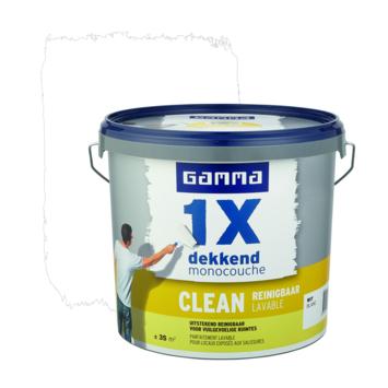 GAMMA 1x dekkend clean mat 5L wit