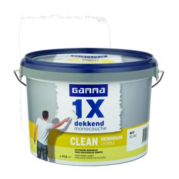 GAMMA muurverf 1x dekkend clean wit 2,5 liter