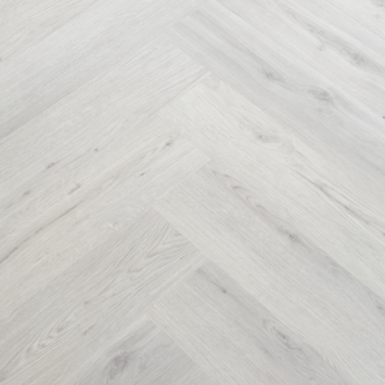 Sol pvc clic Manera motif chevrons chêne gris 1,94 m²