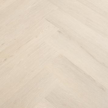 Sol pvc clic Manera motif chevrons chêne beige 1,94 m²