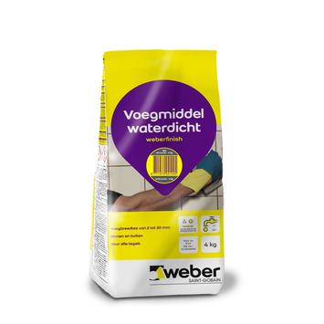 Mortier de jointoyage Weber 4 kg anthracite