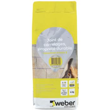 Weber voegmiddel waterdicht lichtgrijs 4 kg