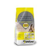 Mortier de jointoiement étanche Weber 4 kg blanc