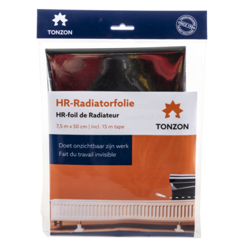 Tonzon radiatorfolie 7,5x0,5 m