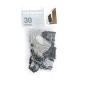 Système à clips pour europlinthe noir 30 pièces
