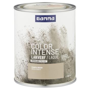 GAMMA color intense binnenlak hoogglans 750 ml pampa bruin