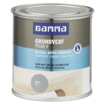 GAMMA extra dekkende grondverf voor binnen 250 ml grijs