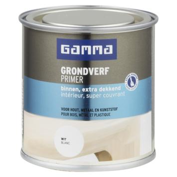 GAMMA extra dekkende grondverf voor binnen 250 ml wit