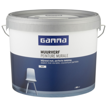 GAMMA muurverf mat 10 L RAL 9010