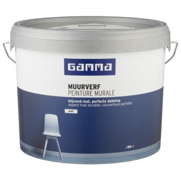 GAMMA muurverf mat 10 L kei grijs