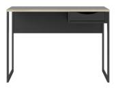 Bureau Loek zwart 110cm hout/metaal