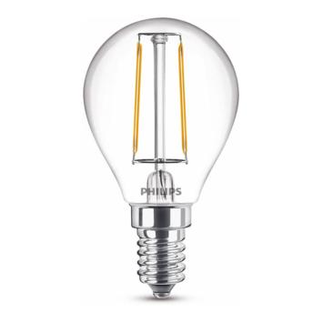 Philips LED kogel E14 15W filament helder niet dimbaar