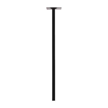 Pied de table carré 750x25 mm noir