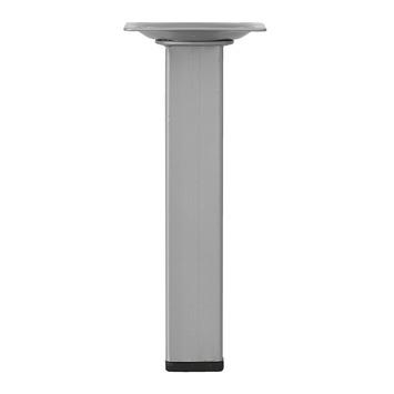 Tafelpoot vierkant 150x25 mm zilvergrijs
