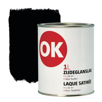 Laque extérieure satinée OK 1 L noir