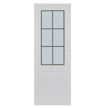 Solid binnendeur Levigato M02 honingraat wit met mat glas 201,5x73 cm