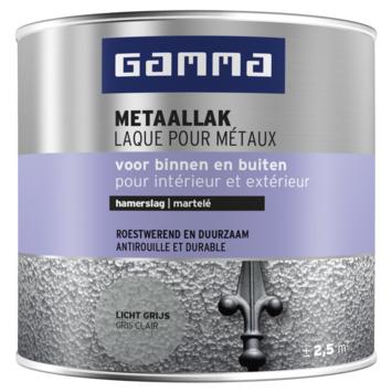 GAMMA metaallak hamerslag 250 ml licht grijs