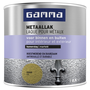 GAMMA metaallak hamerslag 250 ml goud