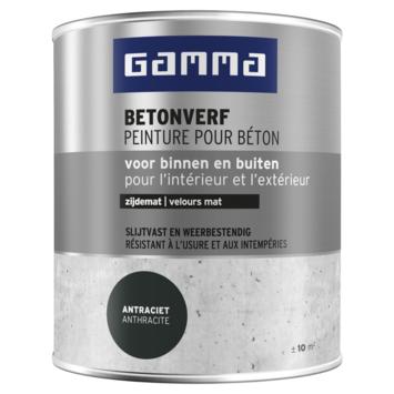 GAMMA Betonverf mat 750 ml zwartgrijs