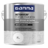 Peinture pour béton mate GAMMA 2,5 L blanc