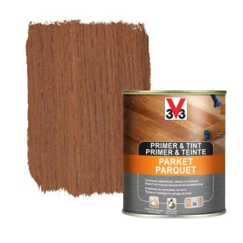 V33 primer & tint parket  teak 0,75 L