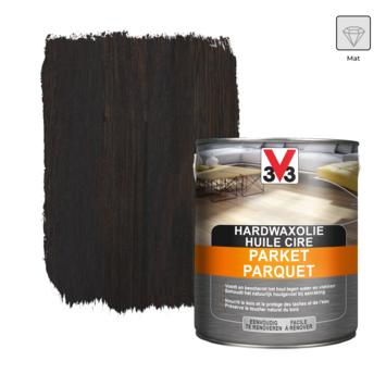 V33 parketolie hardwax deco mat zwart 2,5 L