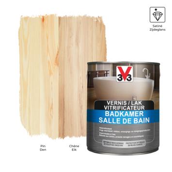 V33 badkamervernis -lak zijdeglans kleurloos 2,5L