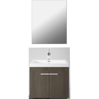 meuble de salle de bains flow ch ne gris meubles salle de bain sanitaire chauffage. Black Bedroom Furniture Sets. Home Design Ideas