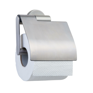 Porte-papier WC avec couvercle Boston Tiger inox