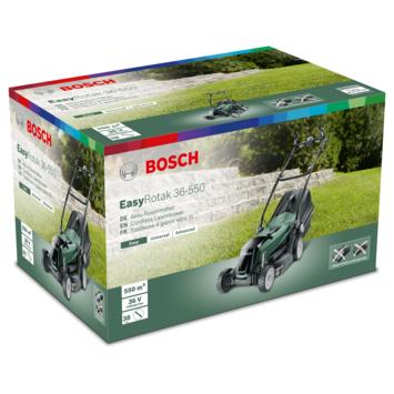 Bosch grasmaaier op accu 36V EasyRotak 36-550 incl. 2 accu's en gratis 1 paar XL tuinhandschoenen