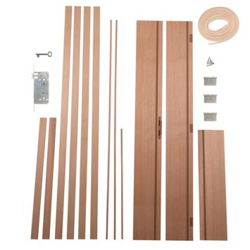 Solid Portixx deurkassement MDF/eik fineer 201,5x25x1,8 cm