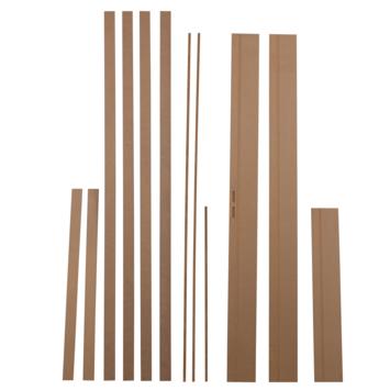 Solid deurkassement MDF onbehandeld 201,5x12,5x1,5 cm