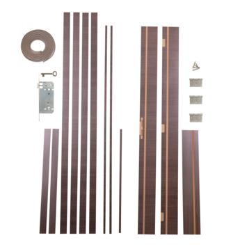 Solid deurkassement Senza Classico MDF antraciet eik horizontaal 201,5x12,5x1,8 cm