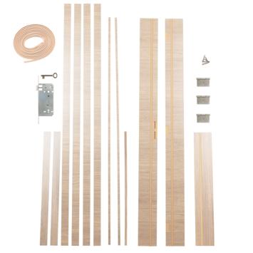 Solid Portixx deurkassement Senza Classico MDF eik wit horizontaal 201,5x12,5x1,8 cm