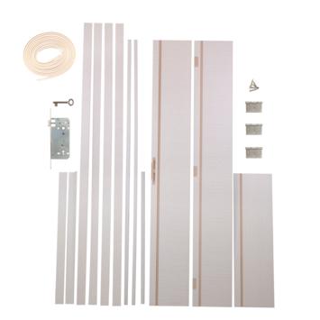 Solid Portixx deurkassement Senza Luce MDF cérusé 201,5x12,5x1,5 cm