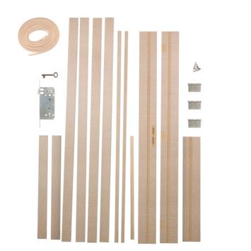 Solid deurkassement Senza Luce MDF lichtgrijs 201,5x30x1,5 cm