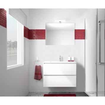 Allibert Livo badkamermeubelset 80 cm hoogglans wit