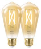 WiZ Connected LED edison filament E27 50W 2 pièces doré dimmable blanc froid-blanc chaud