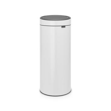 Brabantia vuilnisbak Touch Bin 30 L wit