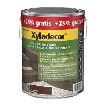 Xyladecor bielzen en palen donkerbruin 4+1 L