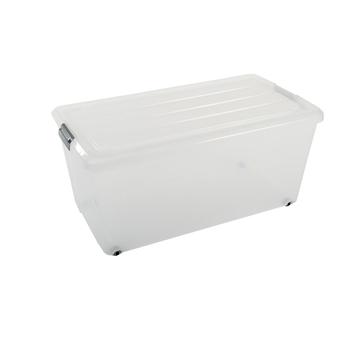 Onderbedbox 70 liter transparant met deksel