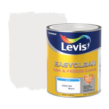 Levis EasyClean lak & primer 2 in 1 satijn wit 0,75l