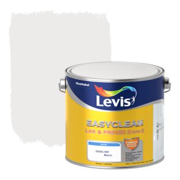 Levis EasyClean lak & primer 2 in 1 satijn wit 2,5l