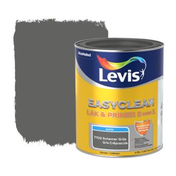 Levis EasyClean lak & primer 2 in 1 satijn schemer grijs 0,75l