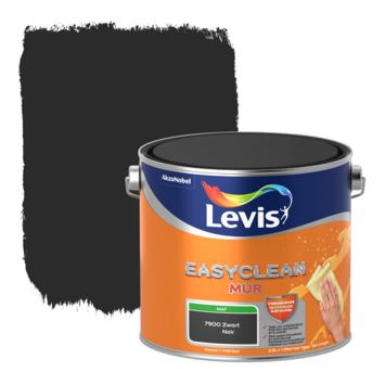 Levis EasyClean muur mat zwart 2.5l