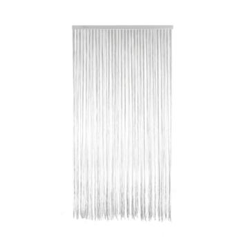 Livin'outdoor deurgordijn Lines alu rail wit/grijs 230x100cm