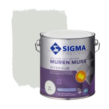Sigma muurverf reinigbaar mat RAL 9016 2,5 liter