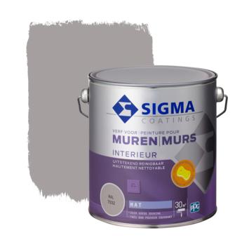 Sigma muurverf reinigbaar mat RAL 7032 2,5 liter